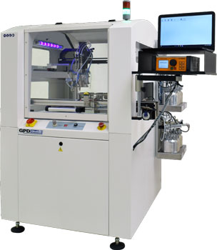 Conformal coating system with volumetric pump and reservoirs photo