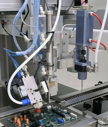 Conformal Coating System with Tilt and Rotate Spray Valve photo