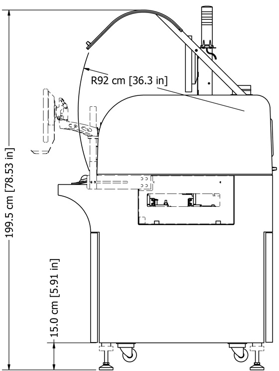 Precision Dispensing Specifications - Equipment, side view