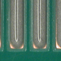 results of solder paste fluid dispensing with optimized auger configuration