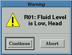 fluid level detect low message