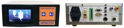 front and review views of programmable controller