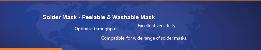 Solder Mask, Peelable and Washable Mask