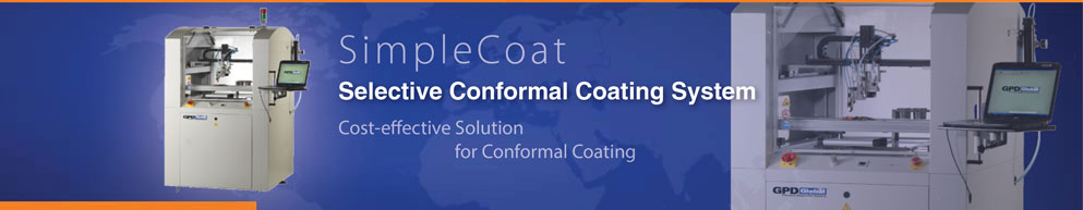 SimpleCoat selective conformal coating system for cost effective conformal coating