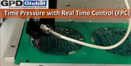 solder mask with time pressure and real time control