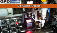 thermal adhesive lid attach process with precision auger pump